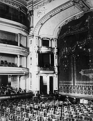 Elias L. T. Harrison - Interior of the Salt Lake Theatre designed by E.L.T. Harrison under the direction of Brigham Young