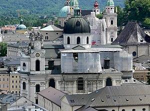 Kollegienkirche, Salzburg - The church from the Mönchsberg