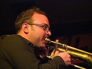 Samuel Blaser, jazz trombonist, picture taken ...