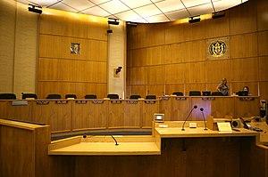 English: San Diego City Council chambers
