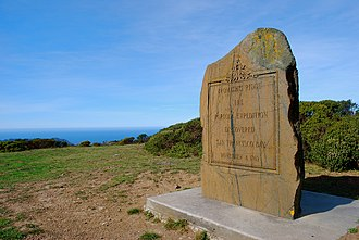 San Francisco Bay Discovery Site - Historical marker at Sweeney Ridge