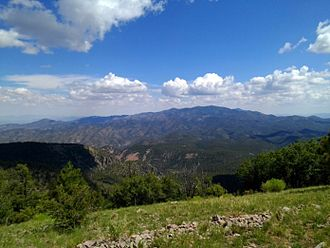 Socorro County, New Mexico - The view from the southern San Mateo Mountains in Socorro County, New Mexico.