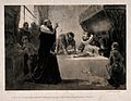 Sancho Panza (Don Quixote's squire) being starved, for healt Wellcome V0016130.jpg