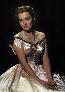 L'actriz estatounitense Olivia de Havilland, 1940.