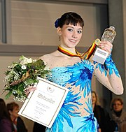 Sarah Hecken German Champion in figure skating 2010 in Mannheim SAP Arena Deutsche Meisterin im Eiskunstlauf