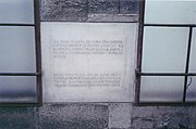 A new plaque commemorating the location of the Sarajevo Assassination