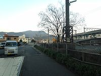 Sasebo Line on north side of Haiki station.JPG