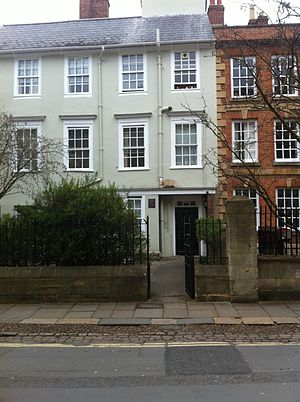 Savilian Professor of Geometry - The house on New College Lane formerly used by the geometry professors