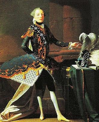 Castrato - The castrato Carlo Scalzi, by Joseph Flipart, c. 1737.