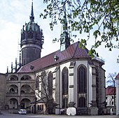 Die Schlosskirche der Lutherstadt Wittenberg (Quelle: Wikimedia)