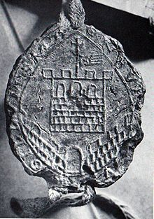 First town seal, 1261