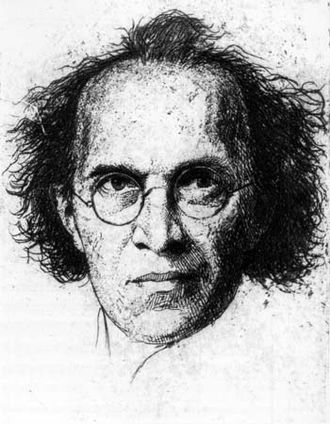 Franz Schreker - Schreker in a lithograph by Heinrich Gottselig, ca. 1922