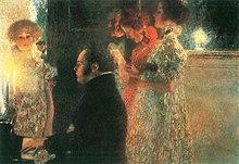 Schubert at the Piano by Gustav Klimt (1899) (Source: Wikimedia)