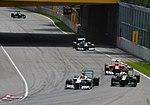 Schumacher, Kovalainen, Massa and Senna (7455555462).jpg