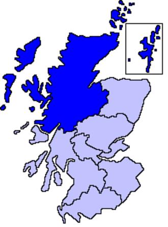 Northern Scotland - Northern Scotland shown within Scotland