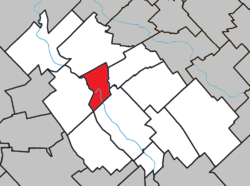 Location within La Nouvelle-Beauce RCM