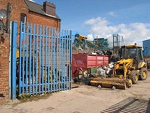 English: Scrap metal merchant Part of a metals...