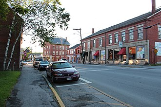 Searsport, Maine - Street in Searsport. The Penobscot Marine Museum is across the street.