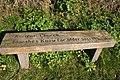 Seat at entrance to churchyard - geograph.org.uk - 688061.jpg