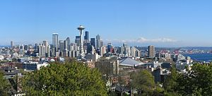 Queen Anne, Seattle - Seattle skyline view from Kerry Park on Queen Anne Hill