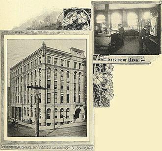 Seafirst Bank - Image: Seattle Dexter Horton & Co. Bankers 2 1900