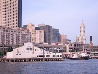 Pier 54, Seattle - Pier 54 from water, 2009