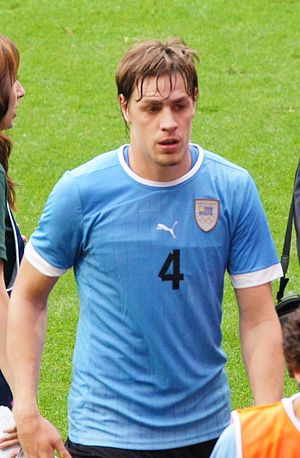 Sebastián Coates - Coates playing for Uruguay at the 2012 Summer Olympics.