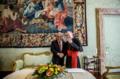 Sebastian Pinera's trip in Vatican - Pietro Parolin and Pinera.png