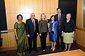 Secretary Clinton Poses for a Photo With Indian Ambassador to the U.S. Rao, Indian Minister for Human Resource Development Sibal,Under Secretary Sonenshine, Assistant Secretary Blake, and U.S. Ambassador to India Powell (7182038377).jpg