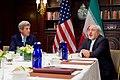 Secretary Kerry Listens as Iranian Foreign Minister Zarif Addresses Reporters (25977736534).jpg