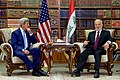 Secretary Kerry Listens to Iraqi Foreign Minister Ibrahim al-Jaafari During Their Meeting in Baghdad (26238384901).jpg