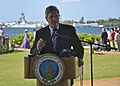 Secretary of Agriculture Tom Vilsack highlights renewable energy and the partnership between the U.S. Navy and the Department of Agriculture to promote biofuels Jan. 10, 2012, in Pearl Harbor, Hawaii 120110-N-RI884-169.jpg