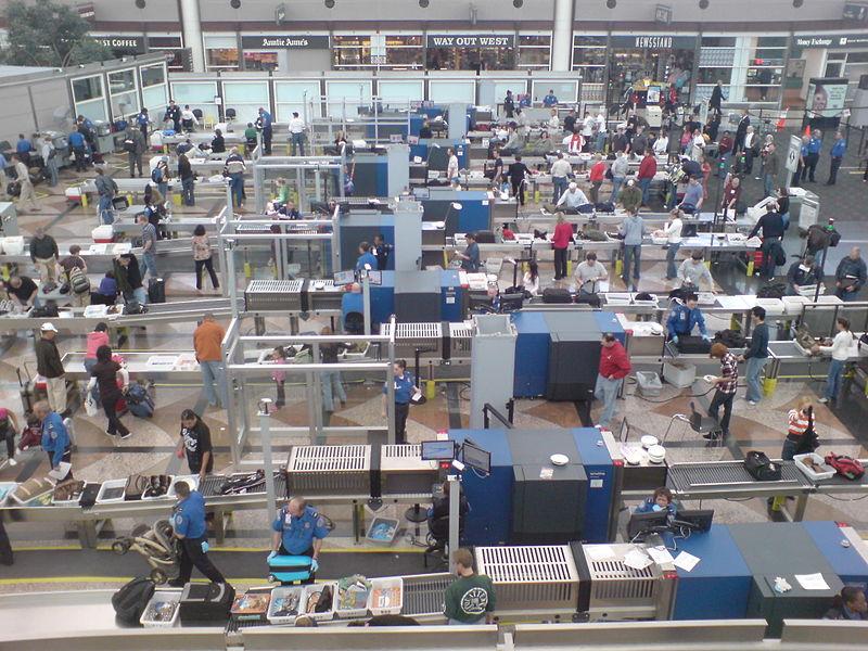 File:Security screening at denver airport (3382932556).jpg