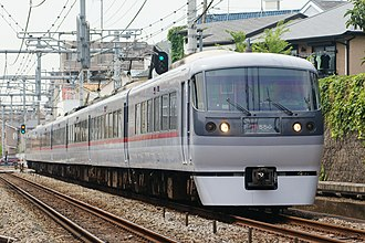 Seibu 10000 series - 10000 series on a Chichibu service in June 2008
