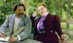 Ilya Repin: Double Portrait of Natalia Nordmann and Ilya Repin