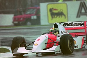 1993 European Grand Prix - Ayrton Senna won the race for McLaren.