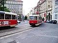 Senovážné náměstí, z Bolzanovy, tramvaj X-A (01).jpg