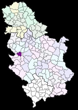 kosjeric mapa srbije Kosjerić (gemeente)   Wikipedia kosjeric mapa srbije