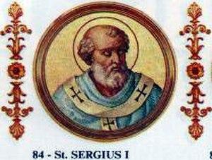 Pope Sergius I - Image: Sergius I