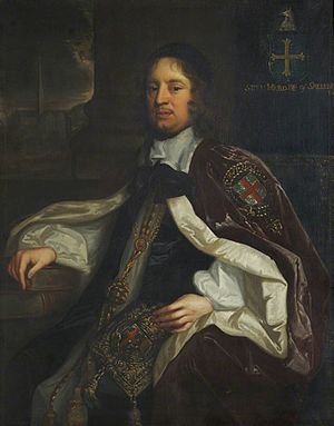 Seth Ward (bishop of Salisbury) - Bishop Ward, portrait by John Greenhill
