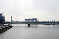 Severinsbrücke mit Kranhaus im Rheinauhafen Cologne 1.JPG