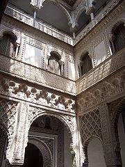 Interior del Alcázar.