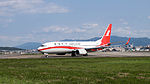 Shanghai Airlines Boeing 737-86D B-1967 Departing from Taipei Songshan Airport 20150103b.jpg