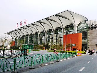 Shanghai railway station - The north plaza of the station (2010)