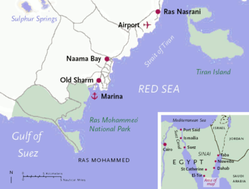 Sharm el-Sheikh is located on the Egyptian Red...