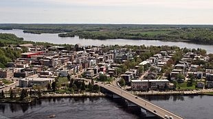 An aerial view of Shawinigan