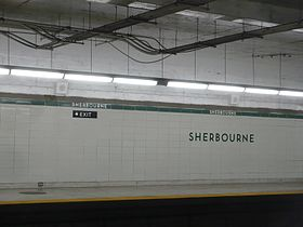La station Sherbourne