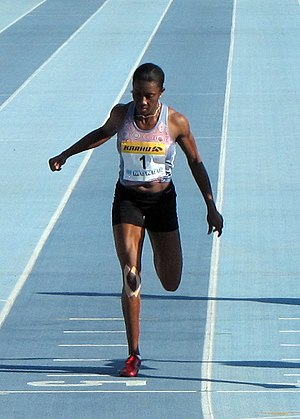 Sheri-Ann Brooks - Brooks competing at the Lappeenranta Games in 2010.