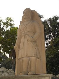 A statue of Shivaji in the Birla Mandir, Delhi