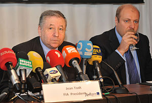 Shota Abkhazava - Shota Abkhazava and the FIA president Jean Todt are giving a press-conference in Tbilisi. 22.04.2011